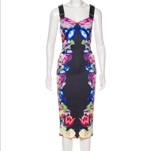 NWT Ted Baker Printed Midi Dress